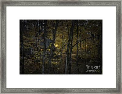 House In The Woods Framed Print by Michele Steffey