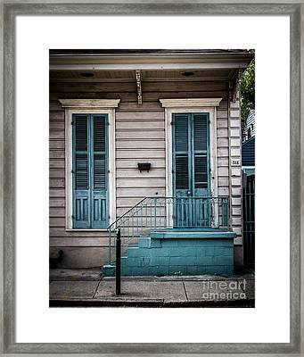 House Of Blue Doors Framed Print by Perry Webster