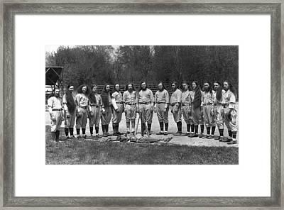 House Of David Baseball Team Framed Print by Underwood Archives