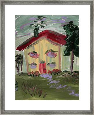 House Of Hugs 2 Framed Print by Mary Carol Williams