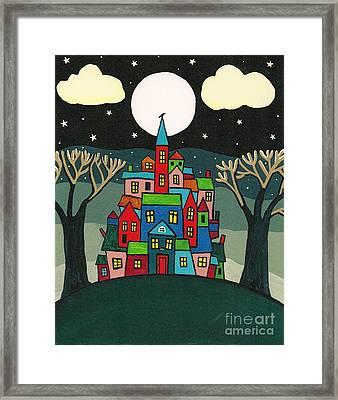 House Of The Crow Framed Print by Margaryta Yermolayeva