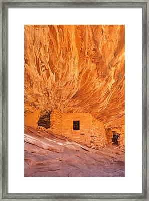 House On Fire Ruins Framed Print by Rory Wallwork