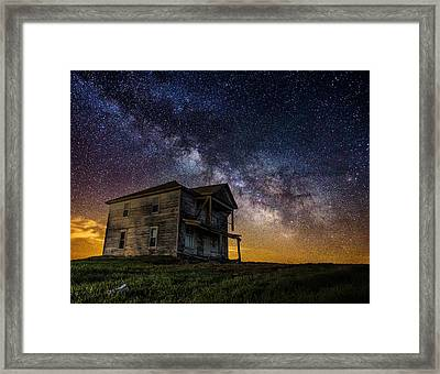 House On The Hill Framed Print by Aaron J Groen