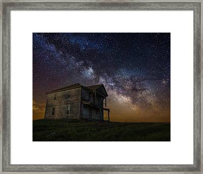 House On The Hill   Remastered Framed Print by Aaron J Groen