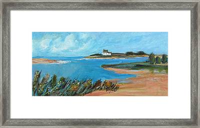 House On The Point Framed Print by Betty Pieper