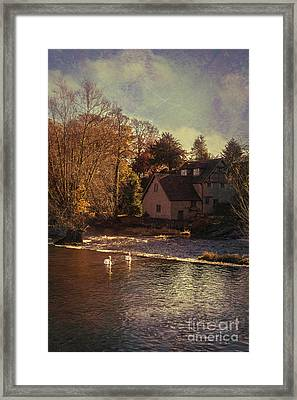 House On The River Framed Print by Amanda Elwell