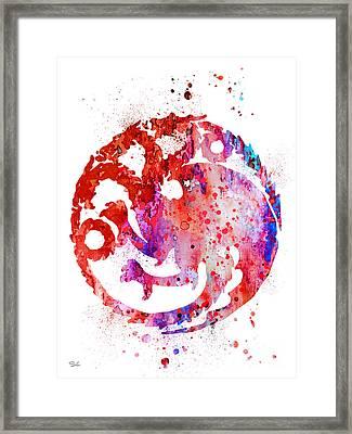 House Targaryen Framed Print by Luke and Slavi