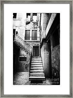 House Up The Stairs Framed Print by John Rizzuto