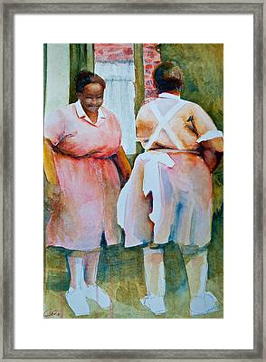 Housekeepers Of Soniat House Framed Print by Jani Freimann