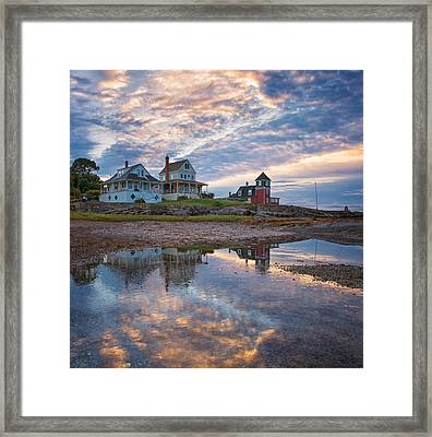 Houses By The Cribstone Framed Print by Darylann Leonard Photography
