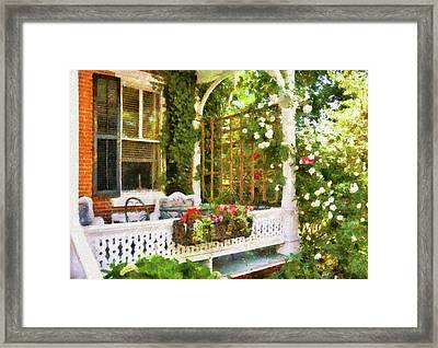 Houses - New Hope Pa - Come Stay With Us  Framed Print by Mike Savad