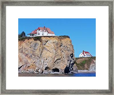 Houses On The Edge Framed Print by Dan Comeau