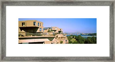Housing Complex With A Bridge Framed Print by Panoramic Images