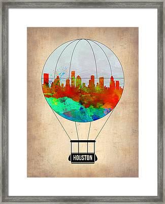 Houston Air Balloon Framed Print by Naxart Studio