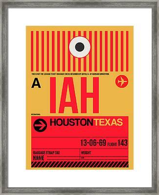 Houston Airport Poster 1 Framed Print by Naxart Studio