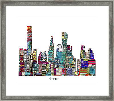 Houston Framed Print by Bri B