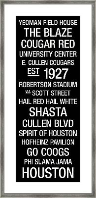Houston College Town Wall Art Framed Print by Replay Photos