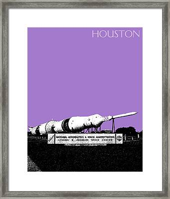 Houston Johnson Space Center - Violet Framed Print by DB Artist