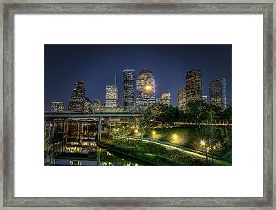 Houston On The Bayou Framed Print by David Morefield