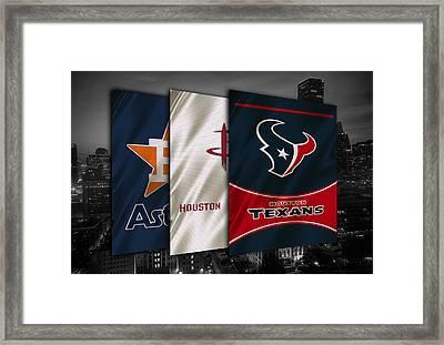 Houston Sports Teams Framed Print by Joe Hamilton