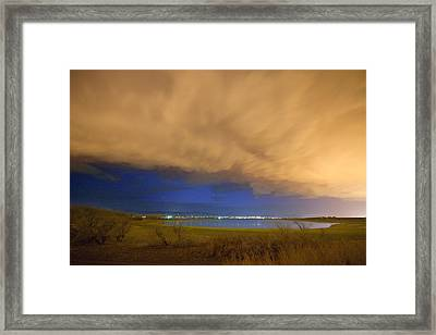 Hovering Stormy Weather Framed Print by James BO  Insogna