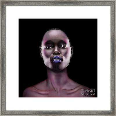 How Beautiful - The Color Purple Framed Print by Reggie Duffie