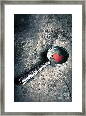 How Do I Love Thee? ... Framed Print by Jan Bickerton
