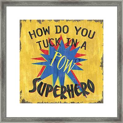 How Do You Tuck... Framed Print by Debbie DeWitt