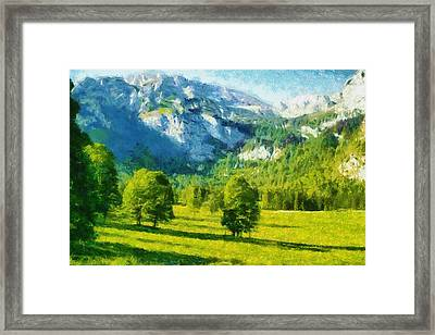 How Green Was My Valley Framed Print by Ayse Deniz