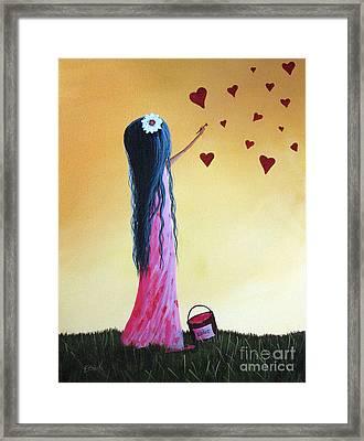 How She Says I Love You By Shawna Erback Framed Print by Shawna Erback