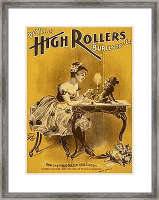 How The High Roller Girls Do It Framed Print by Aged Pixel