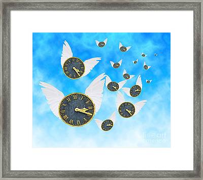 How Time Flies Framed Print by Juli Scalzi