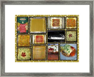 How To Make Your Own Vegan Lasagne Framed Print by Ausra Huntington nee Paulauskaite