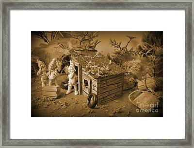 How We Getting That In The Shack  Framed Print by John Malone