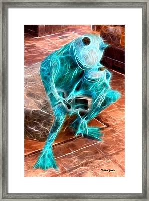 Howard County Library - Miller Branch - Reading Frogs Framed Print by Stephen Younts