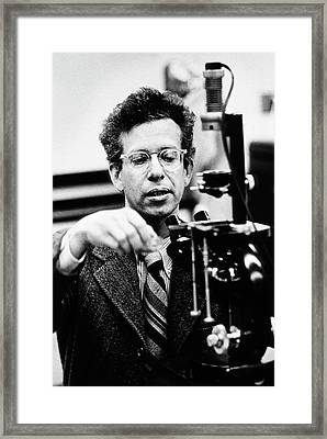 Howard Temin Framed Print by National Library Of Medicine