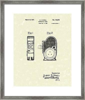 Howell Camera 1837 Patent Art Framed Print by Prior Art Design