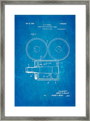 Howell Direct Viewing Camera Patent Art 1929 Blueprint Framed Print by Ian Monk