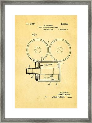 Howell Direct Viewing Camera Patent Art 1929 Framed Print by Ian Monk