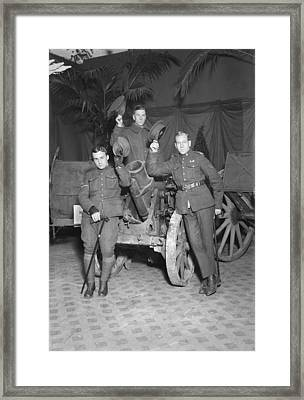 Howitzer At Hero Land Framed Print by Underwood Archives