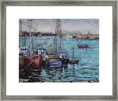 Howth Harbour  Dublin Framed Print by John  Nolan