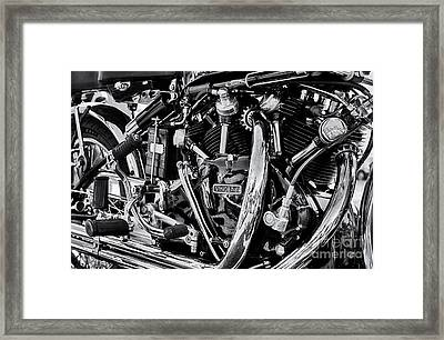Hrd Vincent Motorcycle Engine Framed Print by Tim Gainey