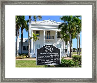 Collier County Courthouse Circa 1928 Framed Print by David Lee Thompson