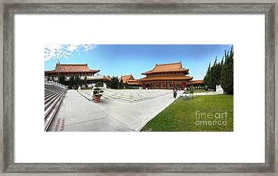 Hsi Lai Temple - 08 Framed Print by Gregory Dyer