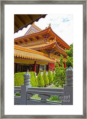 Hsi Lai Temple - 02 Framed Print by Gregory Dyer