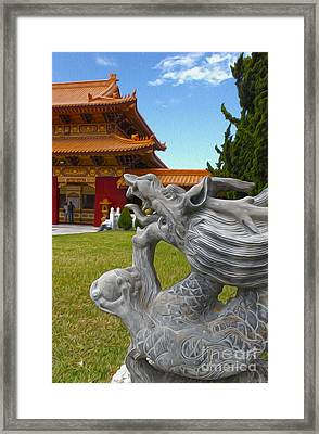 Hsi Lai Temple - 03 Framed Print by Gregory Dyer