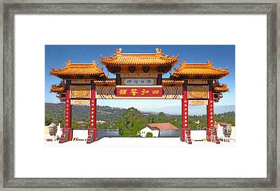 Hsi Lai Temple - 11 Framed Print by Gregory Dyer