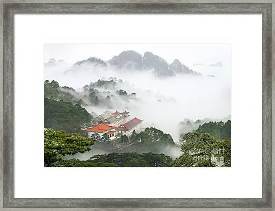 Huangshan National Park Framed Print by King Wu
