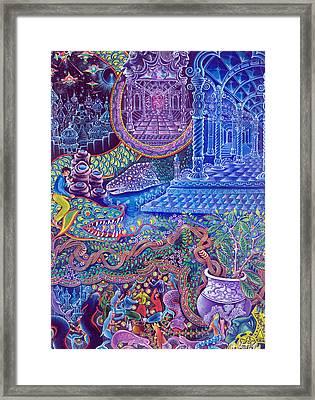 Huasi Yachana Framed Print by Pablo Amaringo