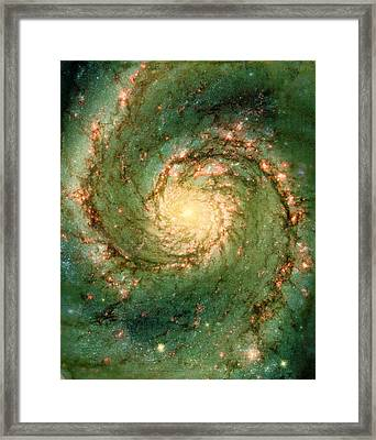 Hubble - The Heart Of The Whirlpool Galaxy Framed Print by Paulette B Wright